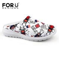 FORUDESIGNS Flag Designer Men Home Slippers 2017 Summer House Sandals For Mens Male Clogs Sandals Shoes
