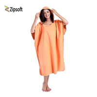 Zipsoft Brand Bathrobe Towel Quick Dry Microfiber Swim Beach Pool Poncho Women Men Hooded Towels Easy for Changing Cloth onBeach