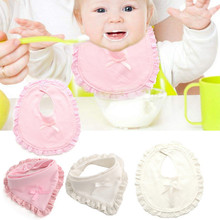 Double-Deck Thickened Triangular Bandage Bowknot Baby Saliva Towel Sweat Separated Towel Cute Kerchief Summer Must