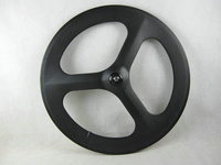 free shipping carbon 3 spoke 700C wheel road 3 spoke wheel Cycling Track 3spoke wheel carbon 3 spoke carbon wheel