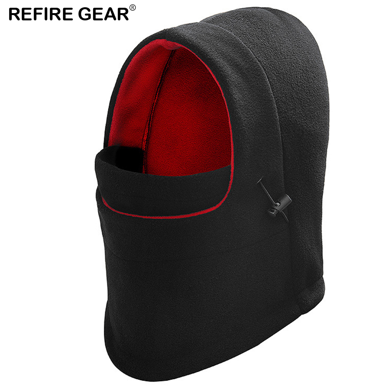 Latest Collection Of Refire Gear Winter Outdoor Hooded Beanie Hat Men Fall Velvet Warm Hiking Camp Face Mask Windproof Hood Cover Balaclava Cap Men Famous For High Quality Raw Materials, Full Range Of Specifications And Sizes, And Great Variety Of Designs