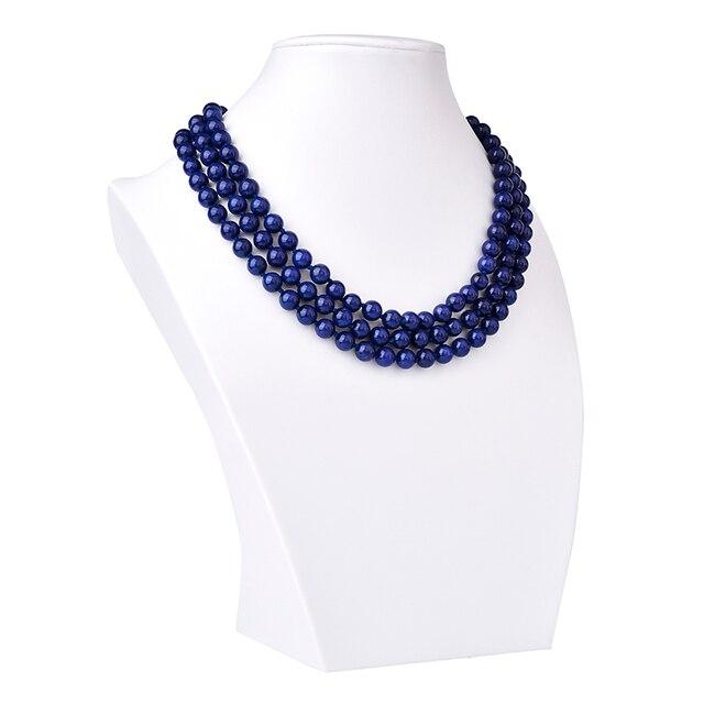 Collier Pierres Porte-Bonheur Lapis Lazuli Triple