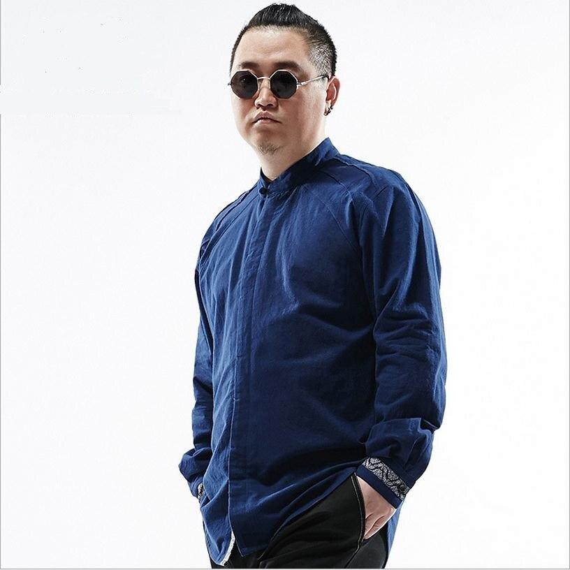 4XL 5XL 6XL 2017 large size Chinese style jacquard cotton shirt men loose big yards fertilizer