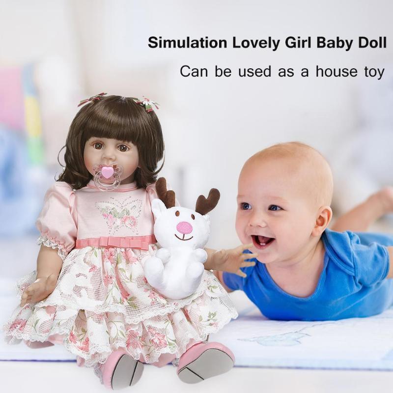 NPK 60 см моделирование прекрасная Девочка Кукла Новорожденный Возрожденный игрушка подарок Детская игрушка на день рождения - 3