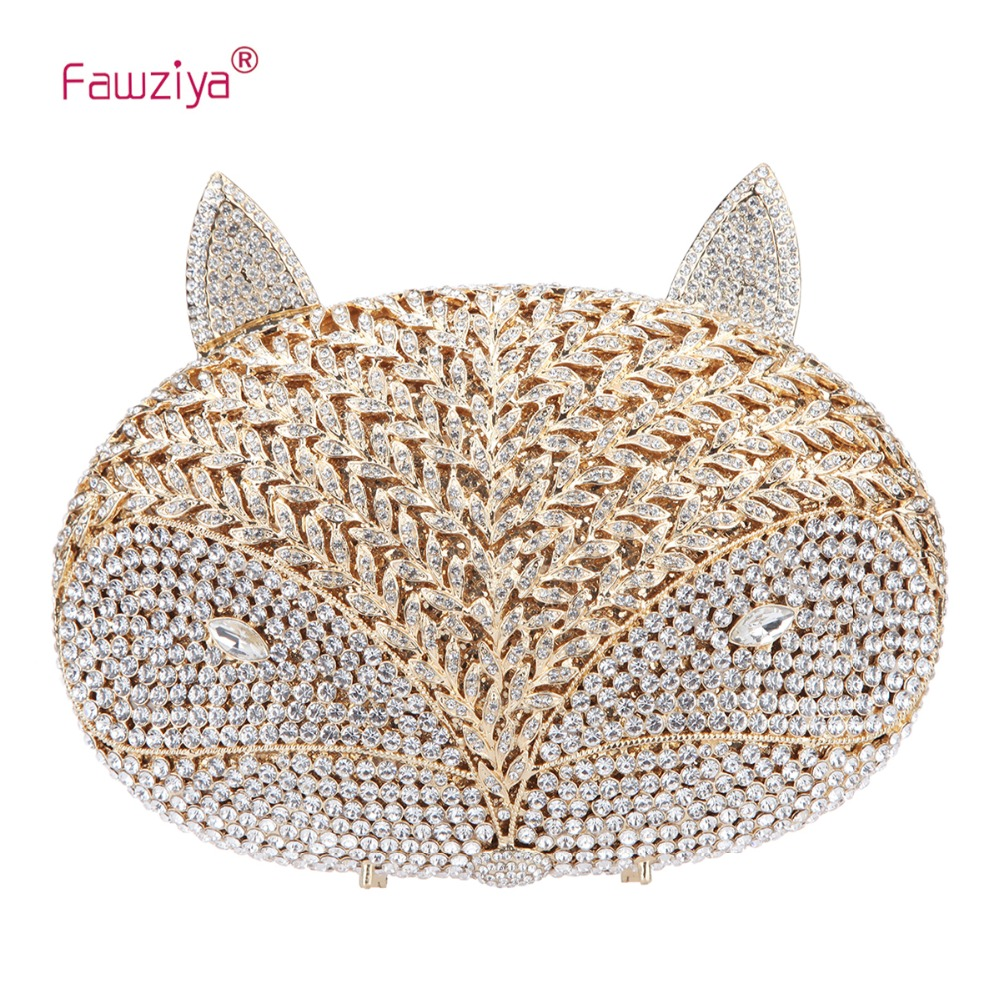 Fawziya Fox Clutch For Women Evening Clutches For Wedding And PartyFawziya Fox Clutch For Women Evening Clutches For Wedding And Party