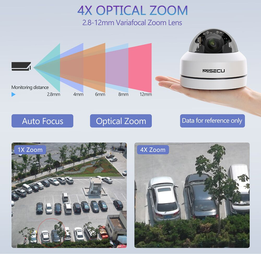Image 2 - MISECU H.265 1080P PTZ IP Camera 4X Zoom Mini Speed Dome Metal Outdoor Waterproof 2MP POE CCTV Security Onvif P2P IR 40M Camera-in Surveillance Cameras from Security & Protection