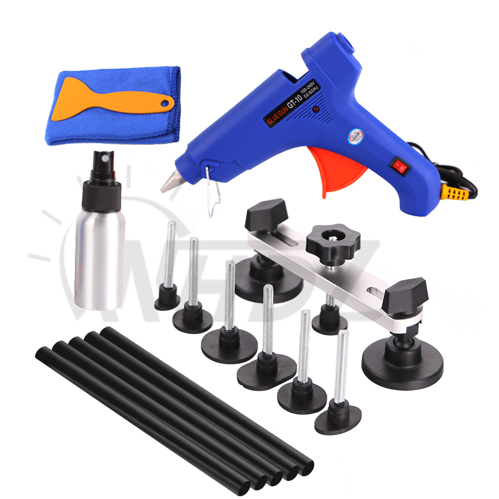 WHDZ Dent Removal Paintless Dent Repair Tool Dent Puller Kit Hot Melt Glue Sticks Glue Gun Pulling Bridge Adhesive Hand Tool Set цена