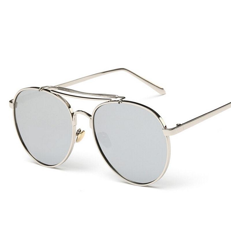 2018 Nouveau Style D été Mens Surperstar Soleil Lunettes Marque Designer  Femmes lunettes de Soleil Surdimensionnées Pour Grand Visage Oculos Aviador  ... 611b343d3b44