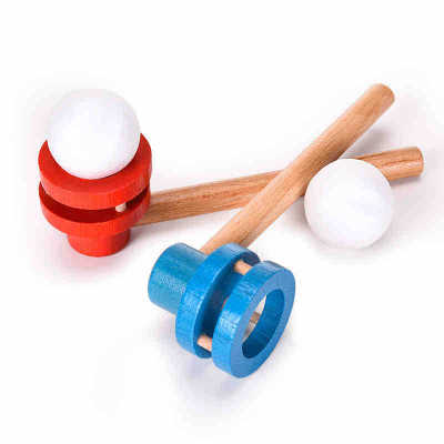 Blowing Pleasure Blowing Balls Magic Suspension Balls Children kids boys girls Wood Puzzle Traditional Toys Parenting baby Games in Game Room from Toys Hobbies