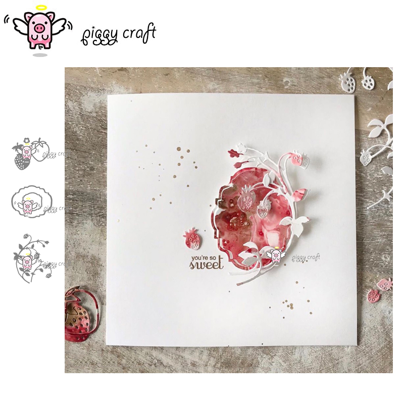 Strawberry Metal Cutting Dies Stencil Scrapbooking Paper Card Embossing Craf Ag