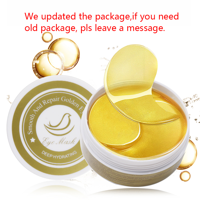 60PC 24K Gold Collagen Eye Mask Gel Eye Patches for Eyes Care Sleep Face Masks Remover Dark Dircles Bag Eye Patch Under Pads 5