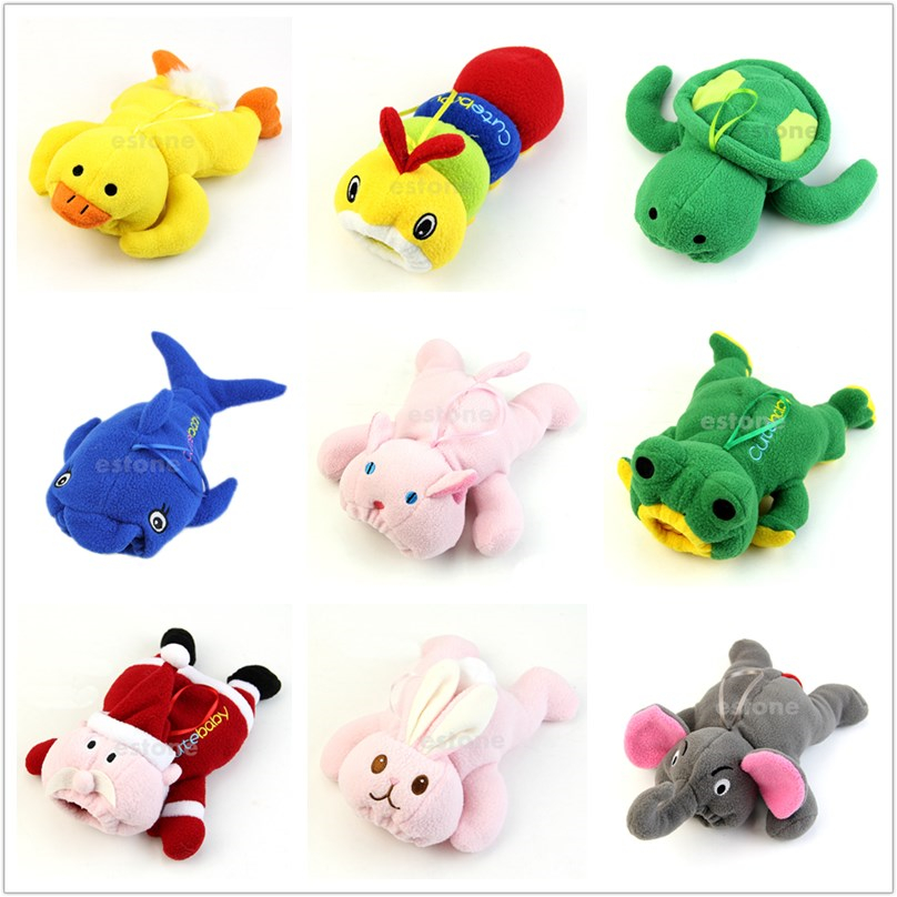 Cartoon Animal Cute Baby Feeding Bottle Plush Pouch Covers Nursing Keep Warm Holders Case -m19