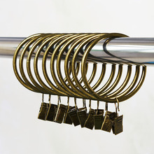 10 pcs pack Home Decoration High Qaulity Shower Curtain Rings Clamps Drapery Clips Bath Curtain Rod