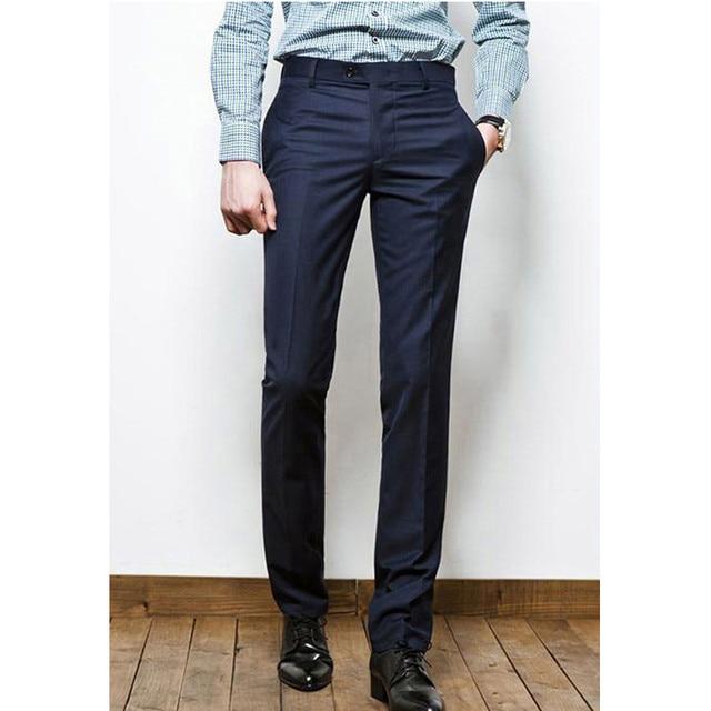 Custom Made Luxury Mens Business Formal Dress Casual Straight Suit Slacks  Trousers Pants Men Suit Trousers f95140e4e080
