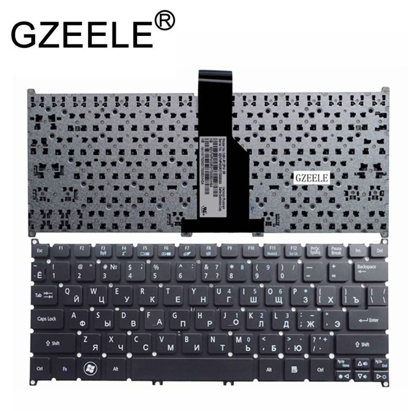 GZEELE RU Russian Laptop Keyboard For ACER Aspire S3 S3-391 S3-951 S3-371 S5-391 One 725 756 Travelmate B1 B113 B113-E B113-M