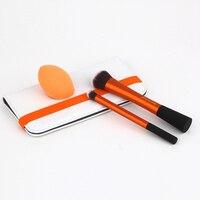 3 Pcs Set Professional Makeup Brushes Set Real Cosmetics Foundation Blending Eye Brush Shadow Techniques Maquiagem
