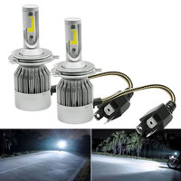 2pcs Car Headlights 72W 7600LM Led Light Bulbs H4 Automobiles Headlamp 6000K Fog White Lamps C6