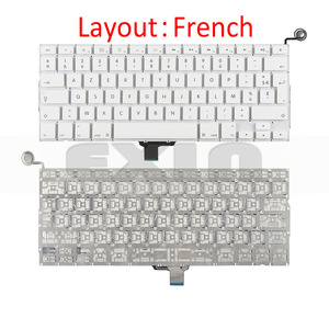 """Image 4 - New A1342 Keyboard US USA English UK French Russian Keyboards for Apple Macbook 13"""" inch Unibody White A1342 US Keyboard Year"""