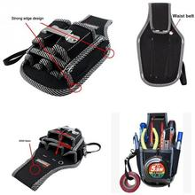 Brand New 9in1 Electricians Waist Pkt Tool Belt Pouch Bag Screwdriver Carry Case Holder Outdoor Working Tool Belt Pouch