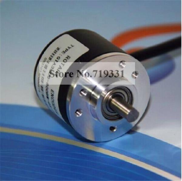Encoder 600P/R Incremental Rotary Encoder AB 2 phase 6mm Shaft 5V-24V +coupling
