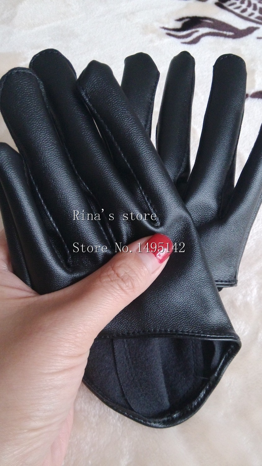 Womens leather gloves with touch screen fingers - Aliexpress Com Buy Women S Fashion Half Palm Gloves Black Touch Screen Gloves Short Design Pu Leather Motorcycle Driving Gloves From Reliable Leather