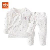 GB Brand Star Prints Cotton Baby Set Long Sleeve Shirt Chinese Style Open Crotch Pants Homewear