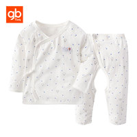 GB Brand Star Prints Cotton Baby Set Long Sleeve Shirt Chinese Style Open Crotch Pants Homewear