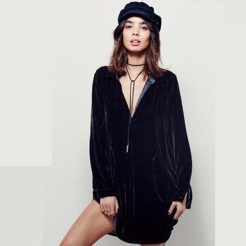 Limitée grande taille nouvelle régulière Soli Robe Sexy charme femmes Robe v-cou coton à manches longues lâche robes hiver