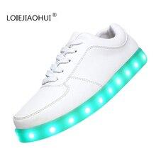 plus size 11 Colors unisex luminous led glow shoe men's & women's fashion USB rechargeable light led shoes for adults led shoes