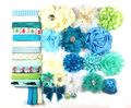 Deluxe DIY accessories kits set ,Baby Shower Headband,CLIPS shabby flowers Rose hair bow Trim ,Birthday /christmas day gift  S13