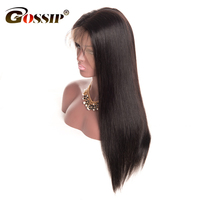 Gossip Pre Plucked 360 Lace Frontal Wig 10 22 Inch Brazilian Straight Hair Wigs For Black