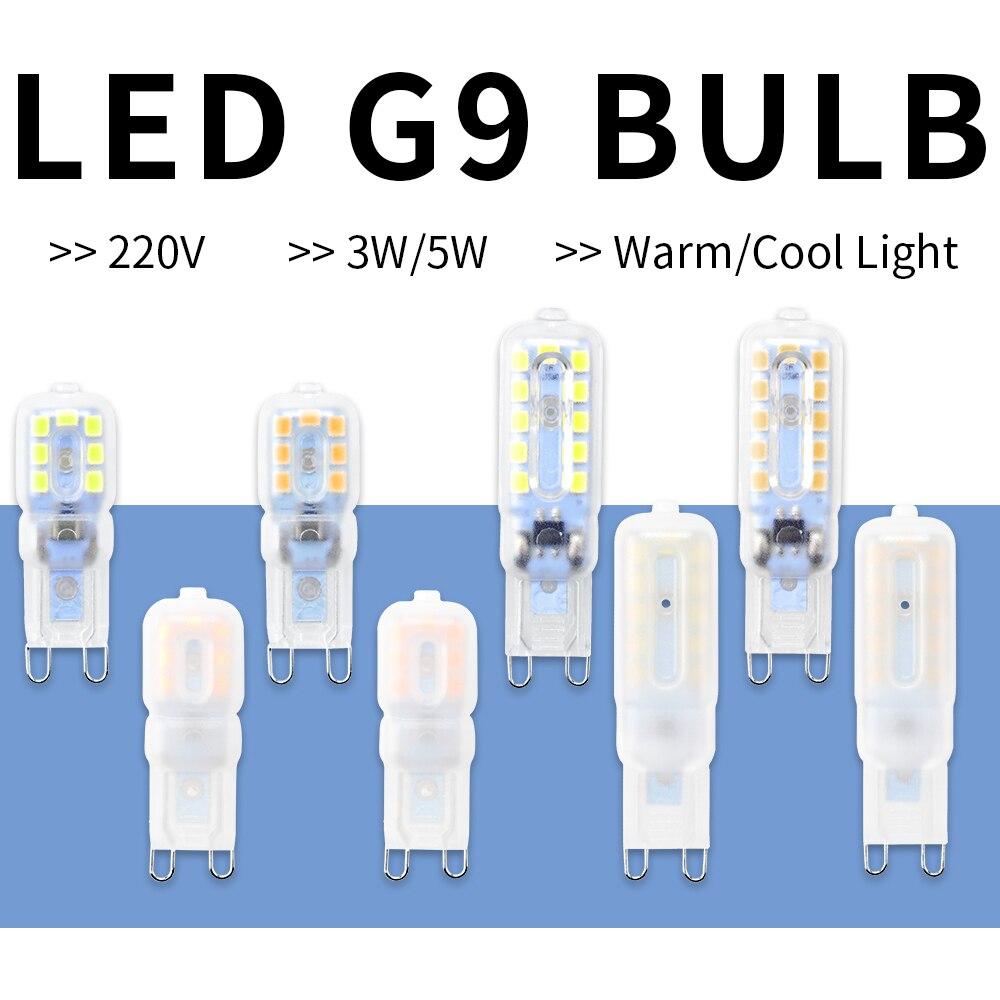 G9 LED Bulb 3W 5W Led Spot Light 220V Corn Lamp SMD 2835 Ampoule Led G9 Mini Energy Saving Candle Lamps For Crystal Chandelier
