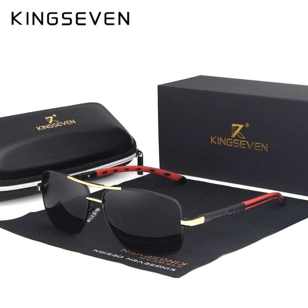 KINGSEVEN 2019 Brand Men Aluminum Sunglasses HD Polarized UV400 Mirror Male Sun Glasses Women For Men Oculos de sol N724 9
