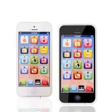 Развивающие игрушки мобильный телефон с светодиодный ребенок Обучающий телефон английский обучающий мобильный телефон игрушка рождественские подарки