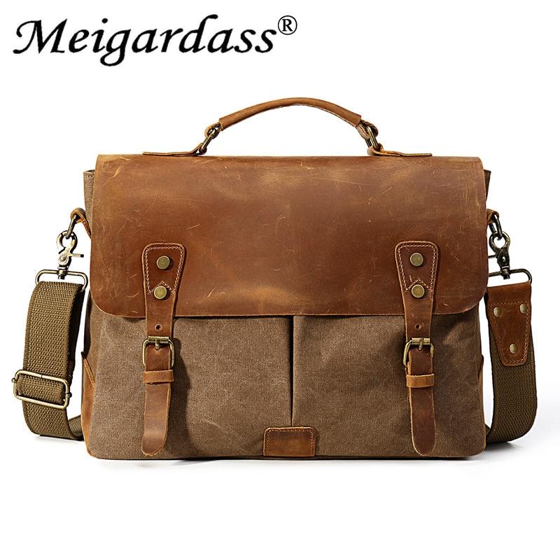 MEIGARDASS hommes sacs à main bureau porte-documents homme affaires ordinateur sacs pour ordinateur portable épaule Messenger sac sac de voyage