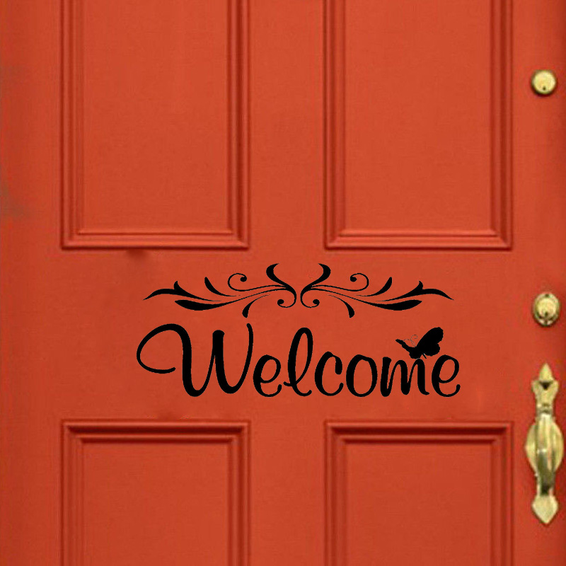 Welcome Decal Vinyl Home Decor Wall Quote Removable DIY Door Sticker A2211