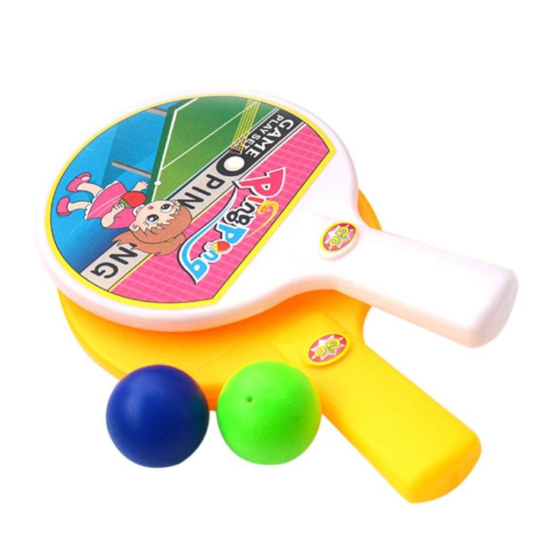 1 Pair Bats 2pcs Balls Funny Baby Ping-Pong Ball Sports Education Toys Childrens Table Tennis Sports Kids Favorite Gifts