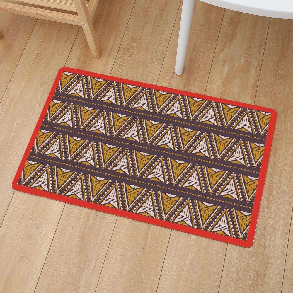 Image 3 - African Pattern Print Waterproof Home Mat Door Mat carpet Outdoor Entrance Pad Soft Carpet Doormat Indoor Bathroom Floor Mats-in Mat from Home & Garden