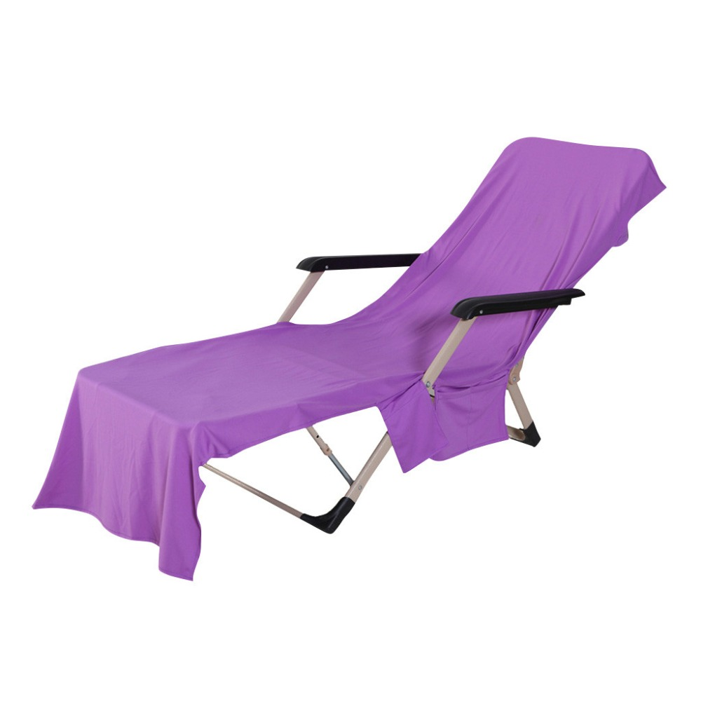 Chair Beach Towel Lounge Chair Beach Towel Cover Polyester Pool Lounge Chair Cover With Pockets Quick Drying 82 5 39 39 X 28 39 39 in Chair Cover from Home amp Garden