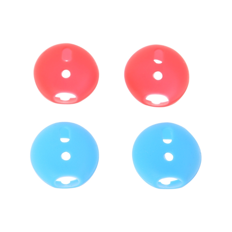 Brand 2 Pairs Red&Blue Soft Silicone Earphone Tips Earbuds Cover Bluetooth Headphone Eartips Cap Replacement For Apple