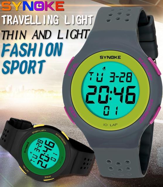 love's Multi Function Sports Watch waterproof LED Alloy women watch leather band