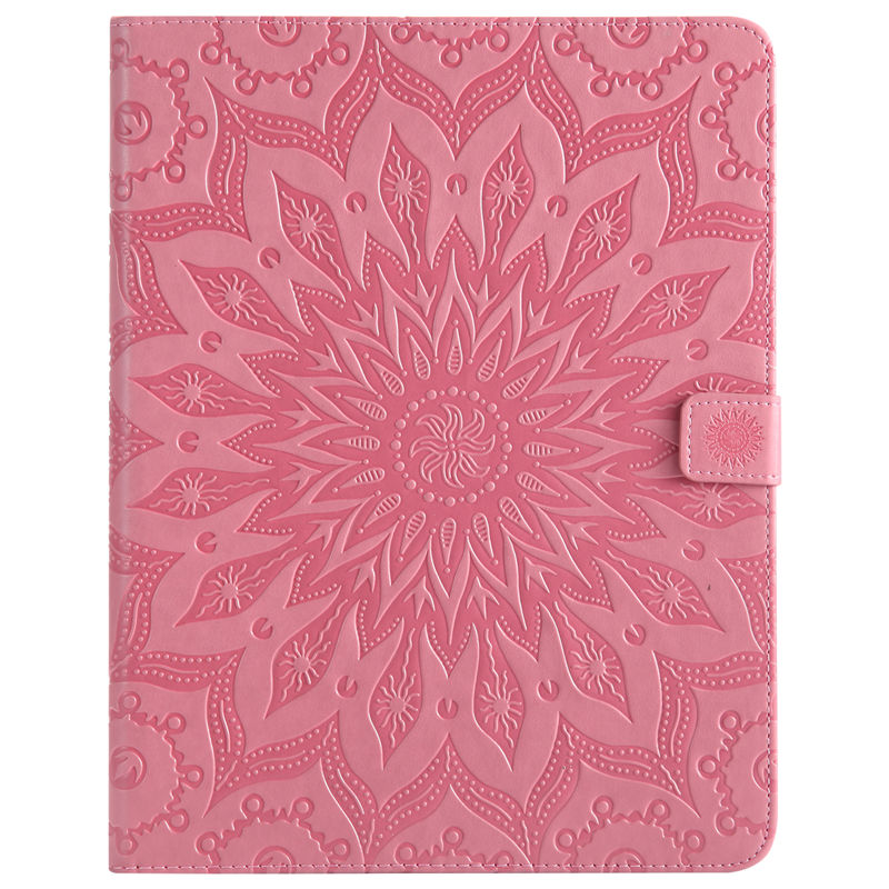 For Apple Ipad 2 3 4 Case Tablet Sun Embossed PU Leather Flip Stand Case For Ipad2 Ipad3 Ipad4 Cover Funda Skin Shell