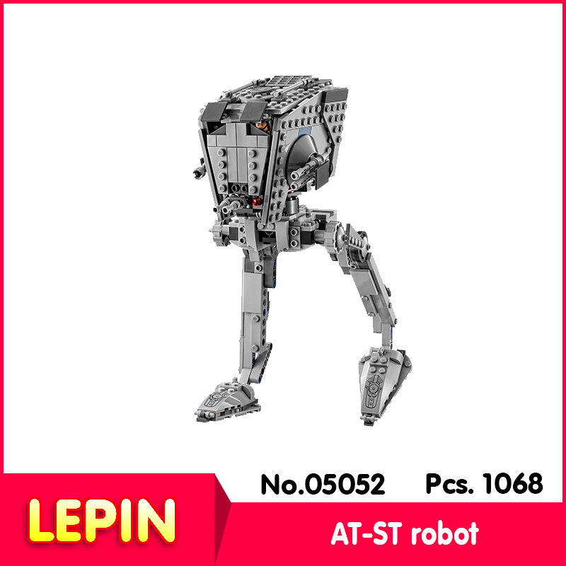 ФОТО 2017 NEW Lepin 05052 1068pcs Star Wars Series AT-ST robot Model Building set Blocks   10174 children Gift toy