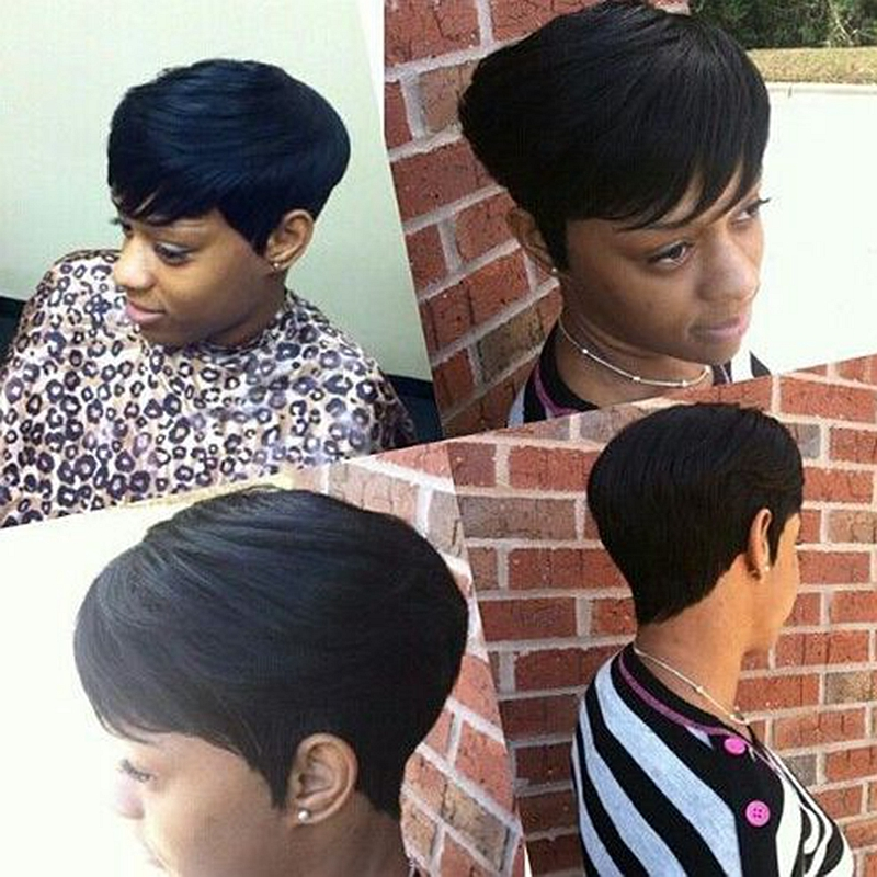 27 pieces short hair weave virgin