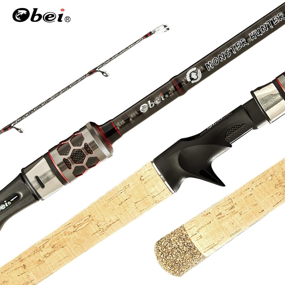 Vara de Pesca Haste de Viagem Obei Monster Hunter Fiação Fundição Catfish Snakehead Super Duro 2.38m Atrair Peso 20-80g 3 Seção