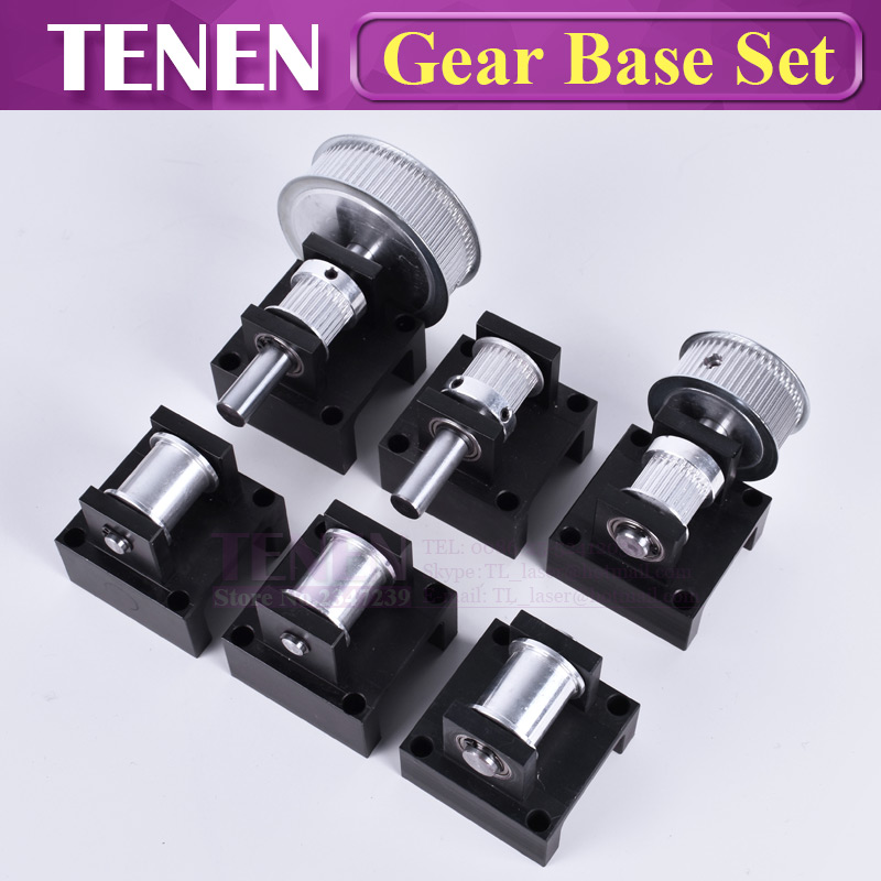 Gear Base Set: 3M Reduction Box Idler Pulley Tensioner Timing Pulley Synchronous Wheel Seat Fastener Mounting Bracket SupportGear Base Set: 3M Reduction Box Idler Pulley Tensioner Timing Pulley Synchronous Wheel Seat Fastener Mounting Bracket Support