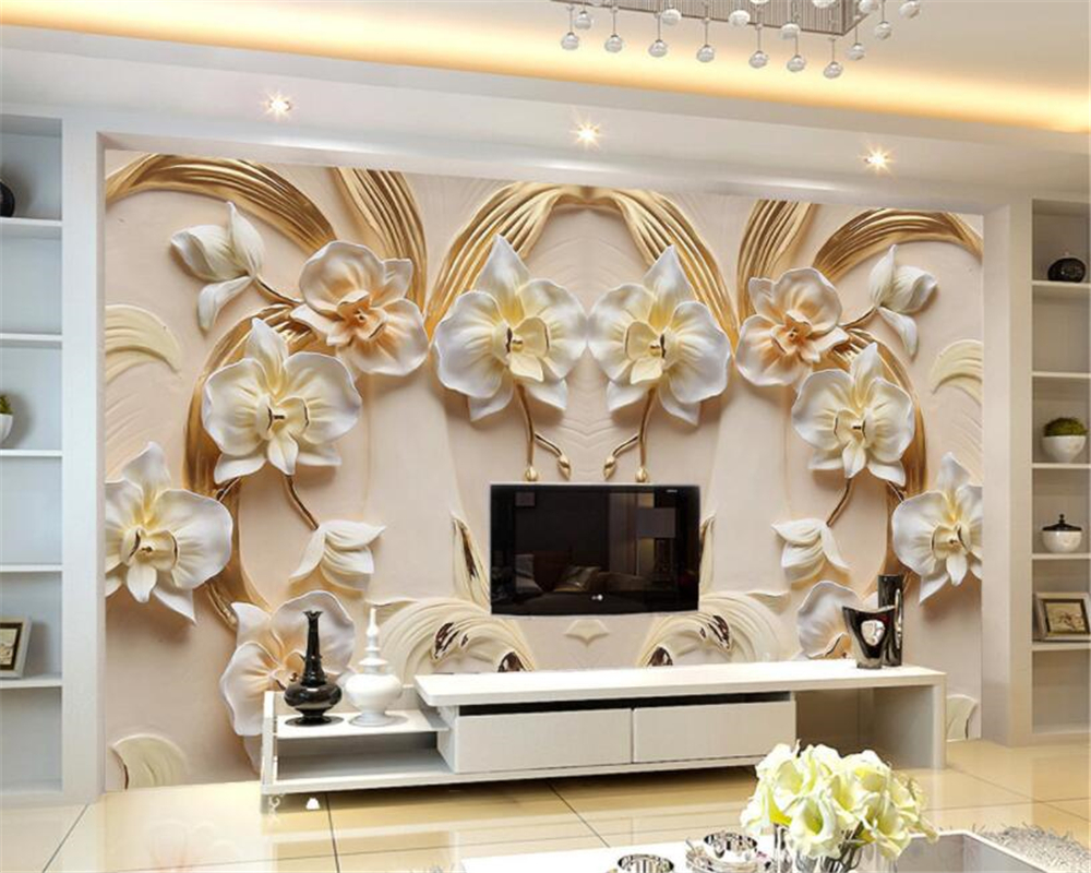 Beibehang Custom Photo Wall Paper Living Room Sofa Bedroom Home Decor 3d Swan Golden Roman Mural Wallpaper Roll Home Improvement Quality First Home Improvement Painting Supplies & Wall Treatments