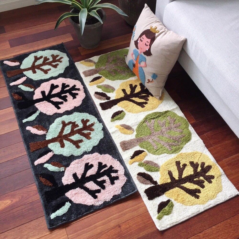 Килим вышитый 45*120 см длинный маленький ковер для прихожей, кухонный коврик для спальни, напольный коврик, одеяло для кровати, впитывающий во