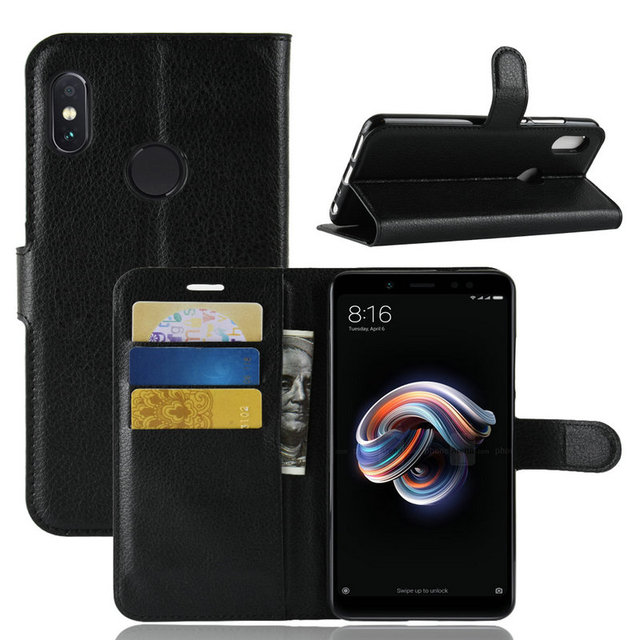 timeless design c81e4 18c12 US $4.99 |for Xiaomi Redmi Note 5 AI Dual Camera Flip Leather Case cover  for Xiaomi Redmi Note 5 Pro 32GB 64GB Phone Cover Wallet case-in Wallet  Cases ...