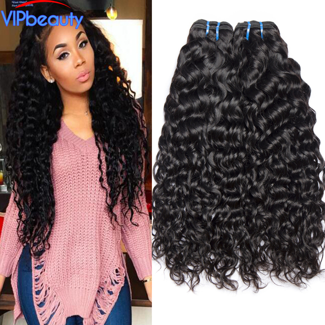 Vip Beauty Indian Water Wave Non Remy Hair Extension Human Hair